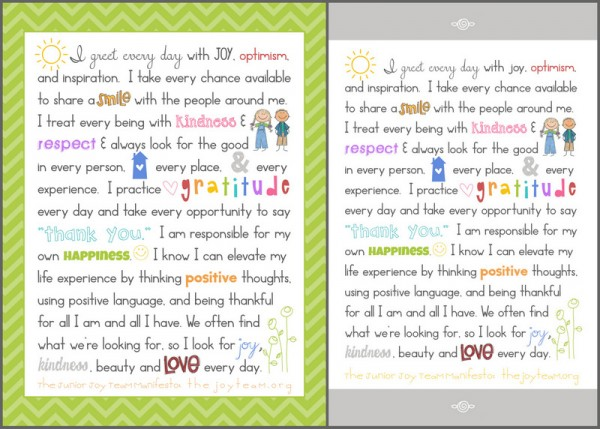 Joy Manifesto shared by Simply Fresh Designs & theJOYteam.org