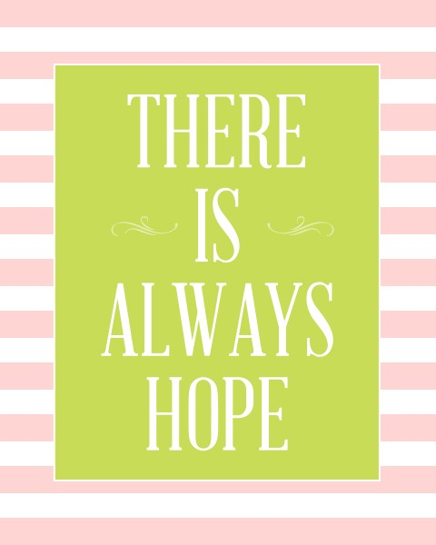 there is always hope freebie1 TENDER SHOOTS