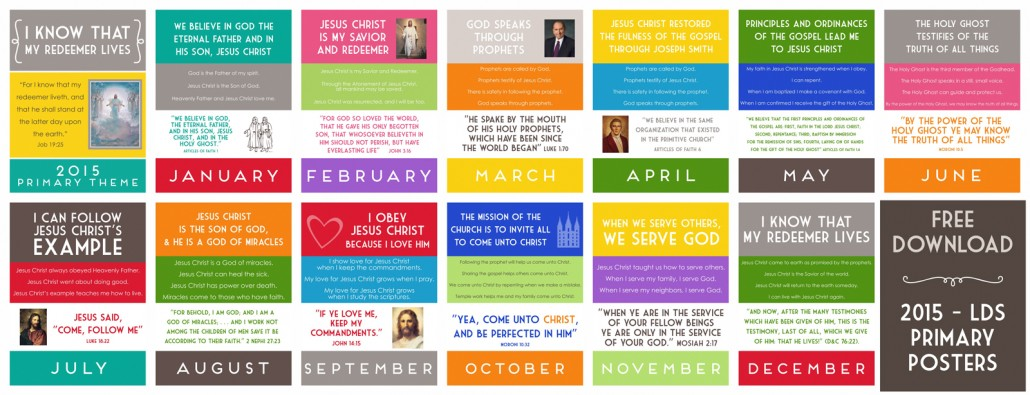 Free Download 2015 LDS Primary Theme Posters ~ Simply Fresh Designs.com
