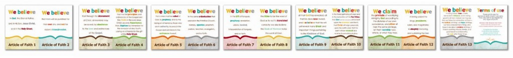 graphic regarding Articles of Faith Printable Cards titled LDS Prints: Material of Religion - Easily Clean Plans