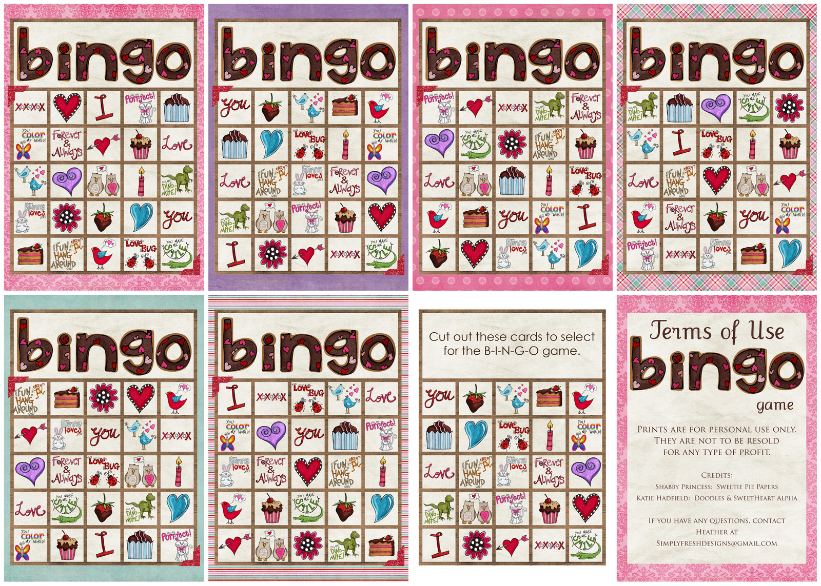 Valentines Day Bingo Game Simply Fresh Designs