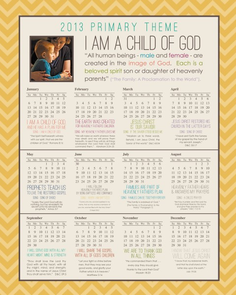 more 2013 LDS Primary Theme - Simply Fresh Designs