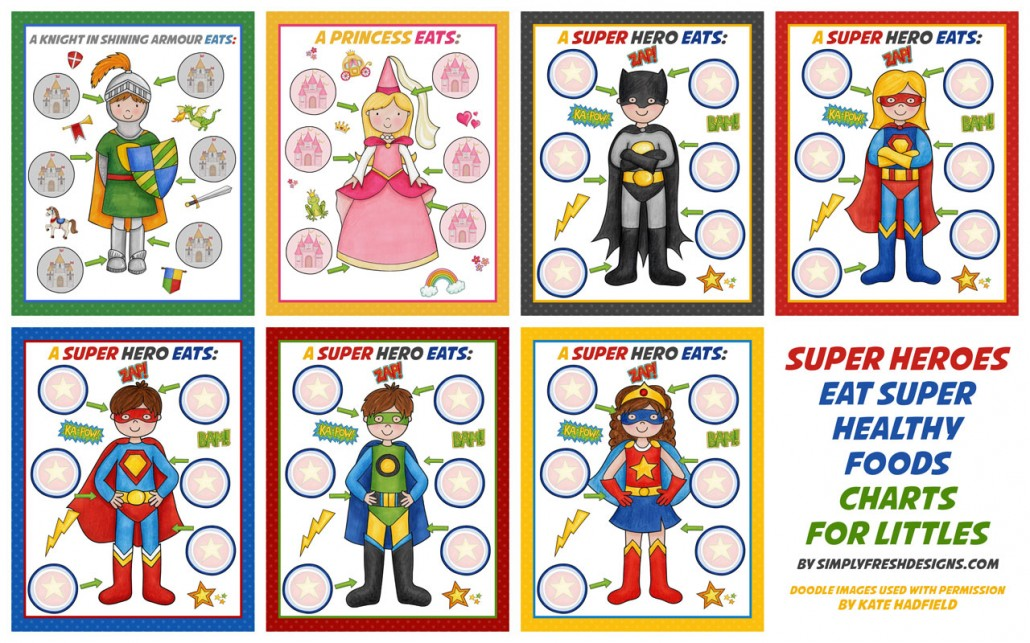 Healthy Eating Charts For Kids  Simply Fresh Designs