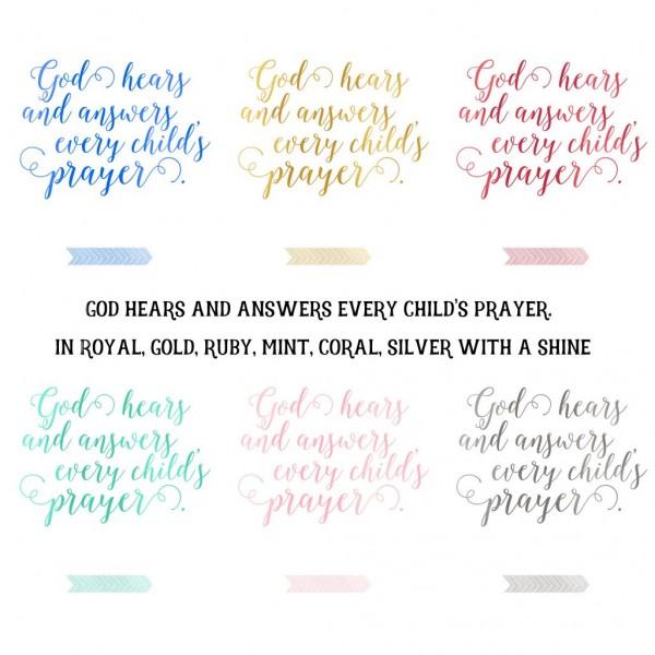 god hears and answers prayers