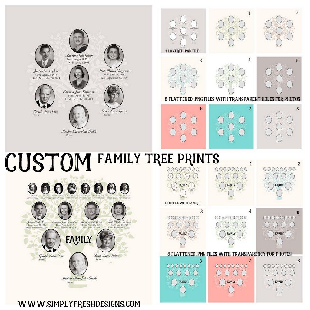 Custom Family Tree Digital File ... simplyfreshdesigns.com
