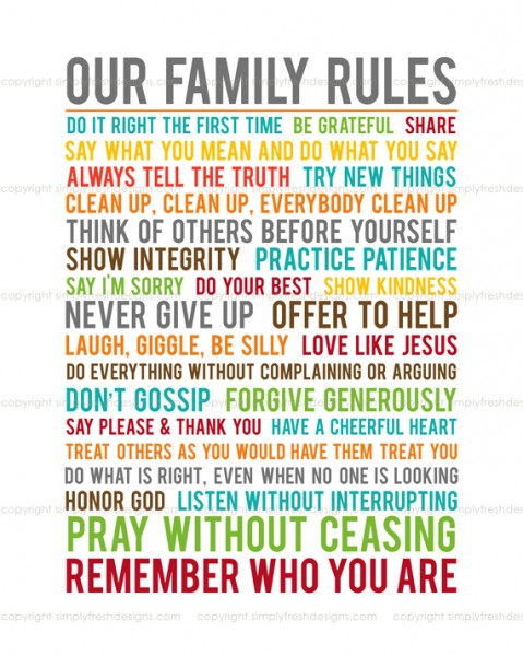 Family Rules Back In The Shop Simply Fresh Designs